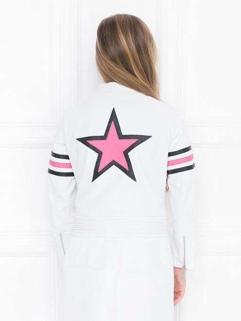 Куртка из эко-кожи в байкерском стиле Freedomday - МодельВерхНиз1