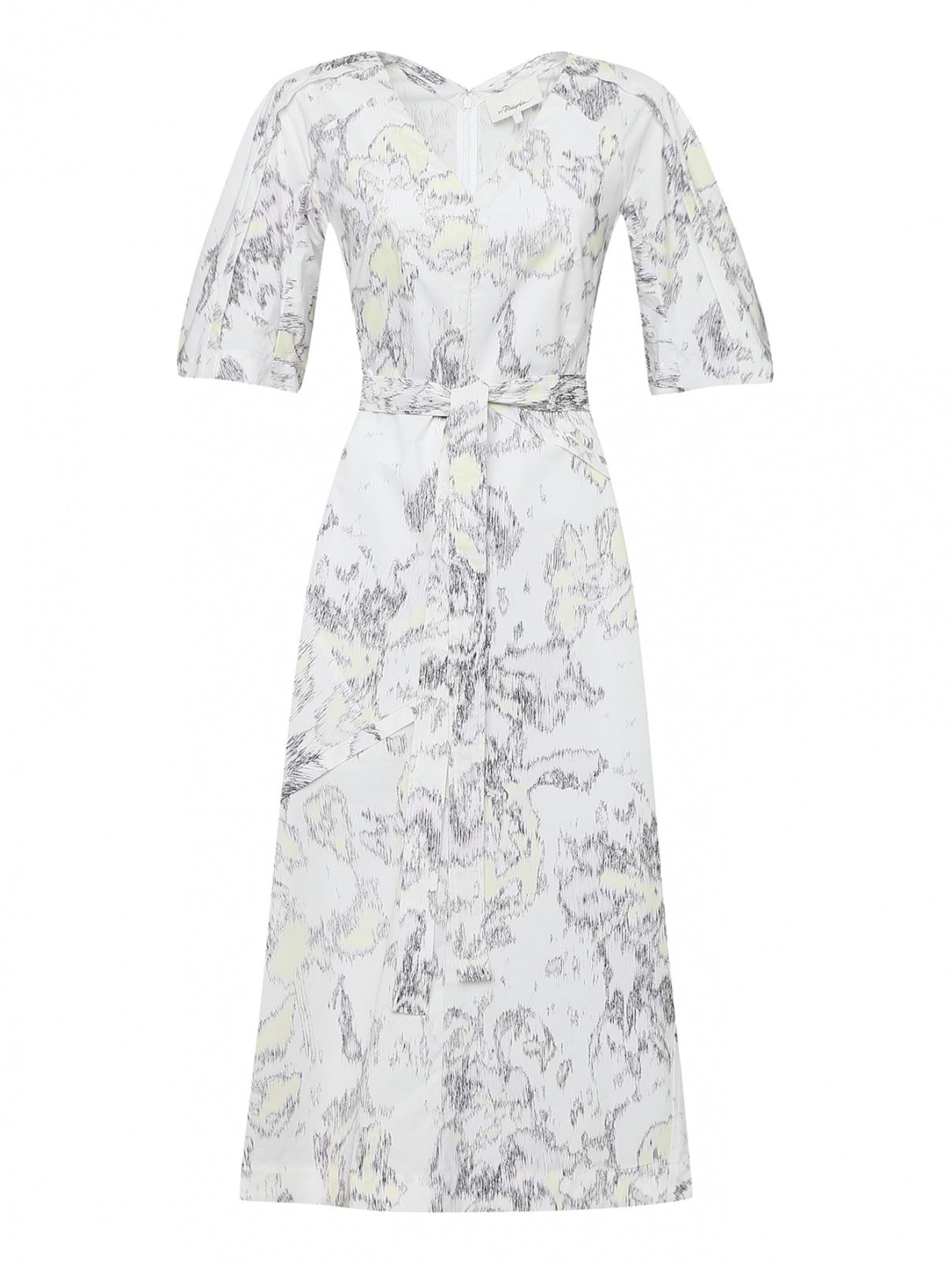 Платье с объемными рукавами из хлопка 3.1 Phillip Lim  –  Общий вид