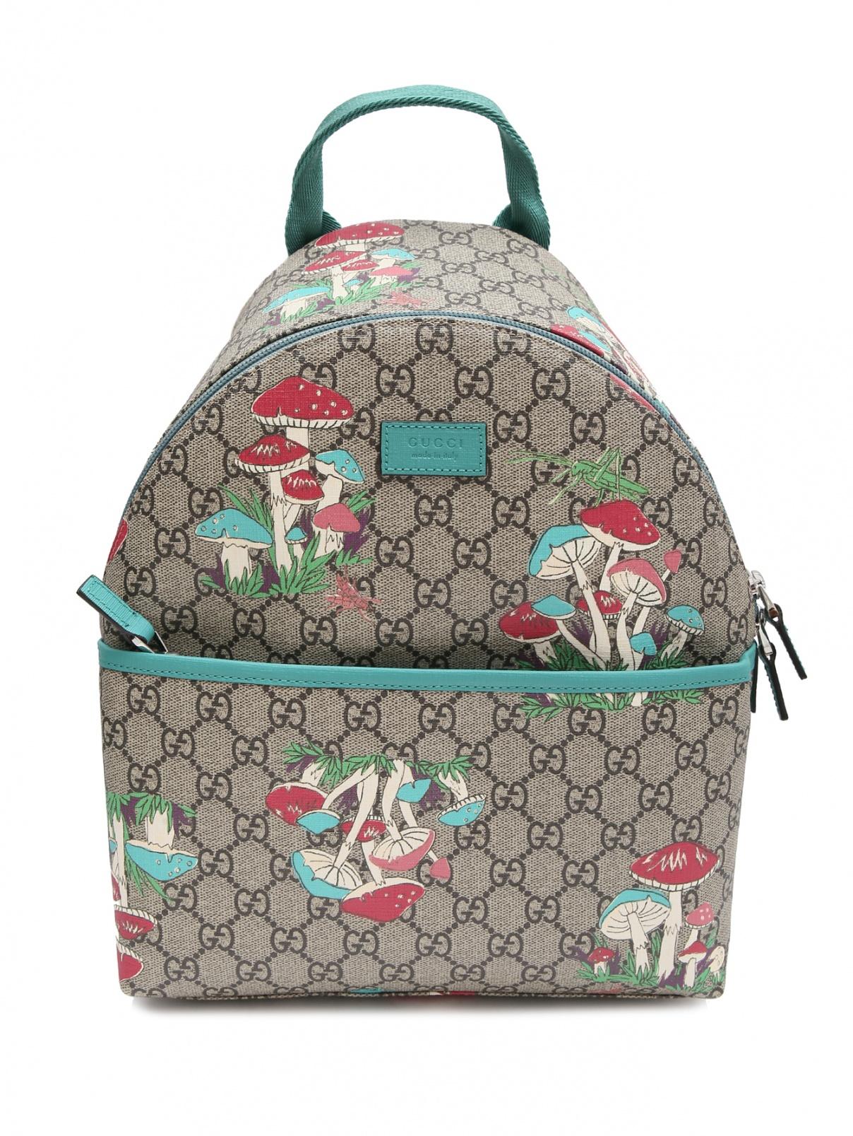 Рюкзак с логотипом и принтом Gucci  –  Общий вид