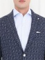 Пиджак с узором из шерсти и шелка Andrea Neri  –  Модель Общий вид1