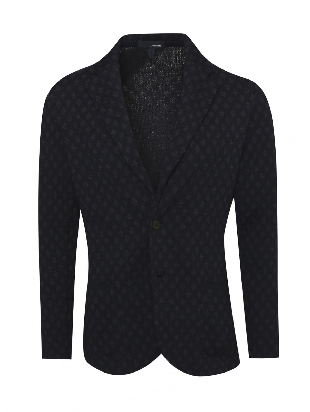Пиджак трикотажный из шерсти LARDINI  –  Общий вид
