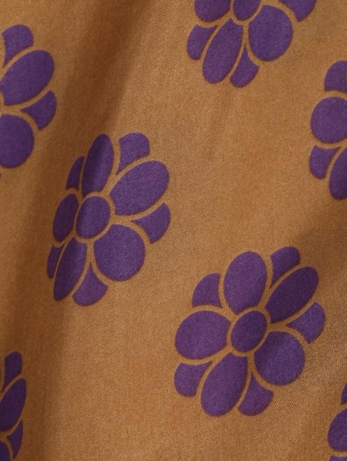 Платье из шелка свободного кроя с узором MM6 - Деталь