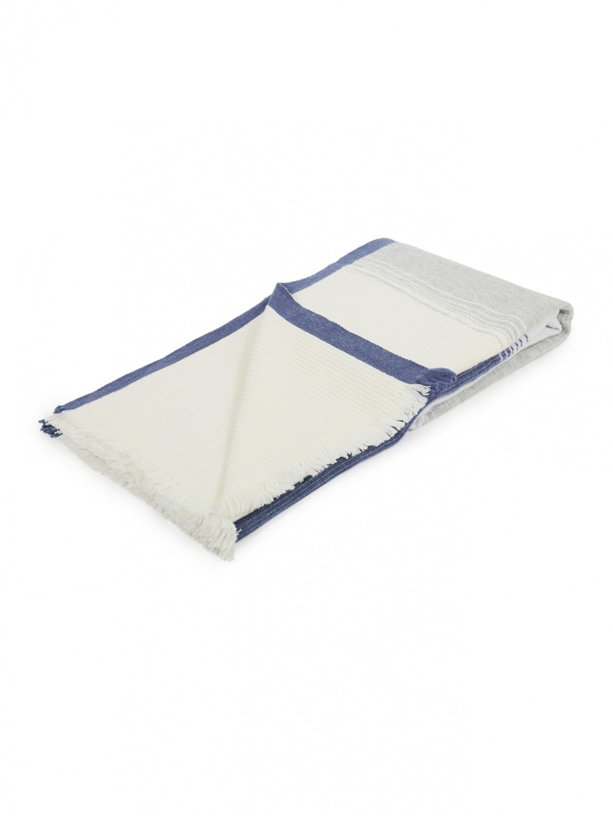 Плед из фактурной кашемировой ткани с бахромой 140 x 200 Agnona  –  Общий вид