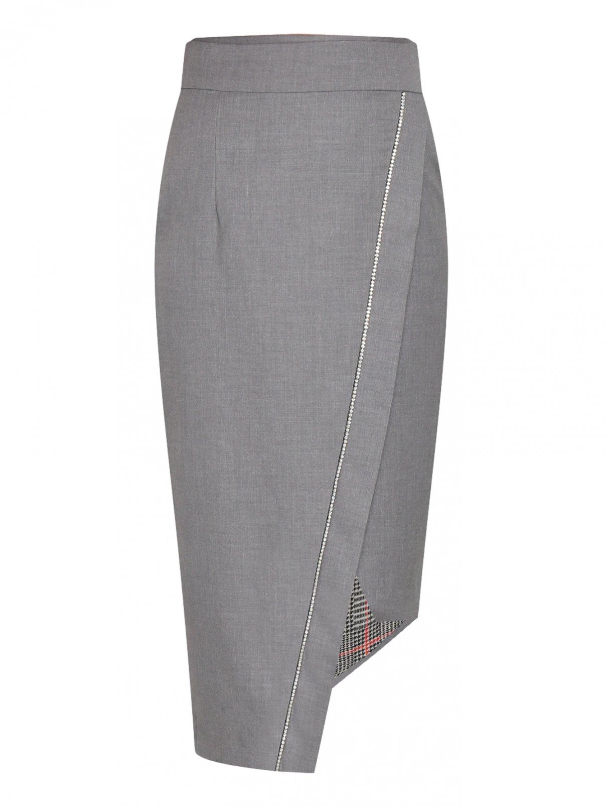 Юбка на заах с аппликацией из камней Forte Couture  –  Общий вид