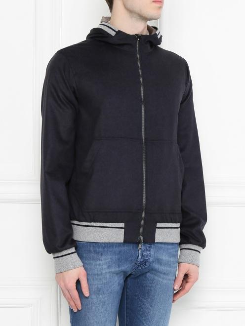 Куртка из шелка и кашемира - МодельВерхНиз