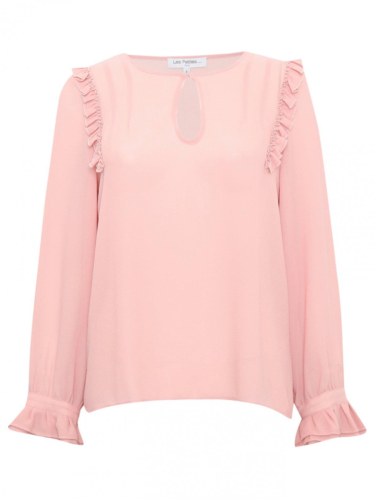 Блуза с декоративными рюшами Les Petites...  –  Общий вид