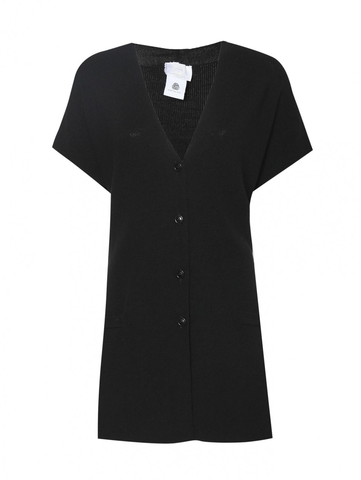 Жилет из шерсти с карманами Marina Rinaldi  –  Общий вид