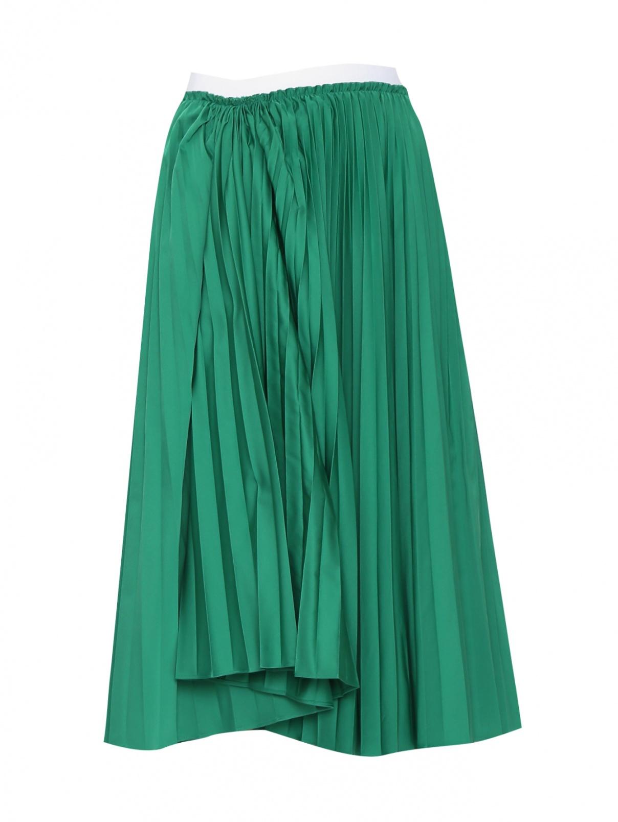 Плиссированная юбка на резинке из смешанного хлопка Marni  –  Общий вид