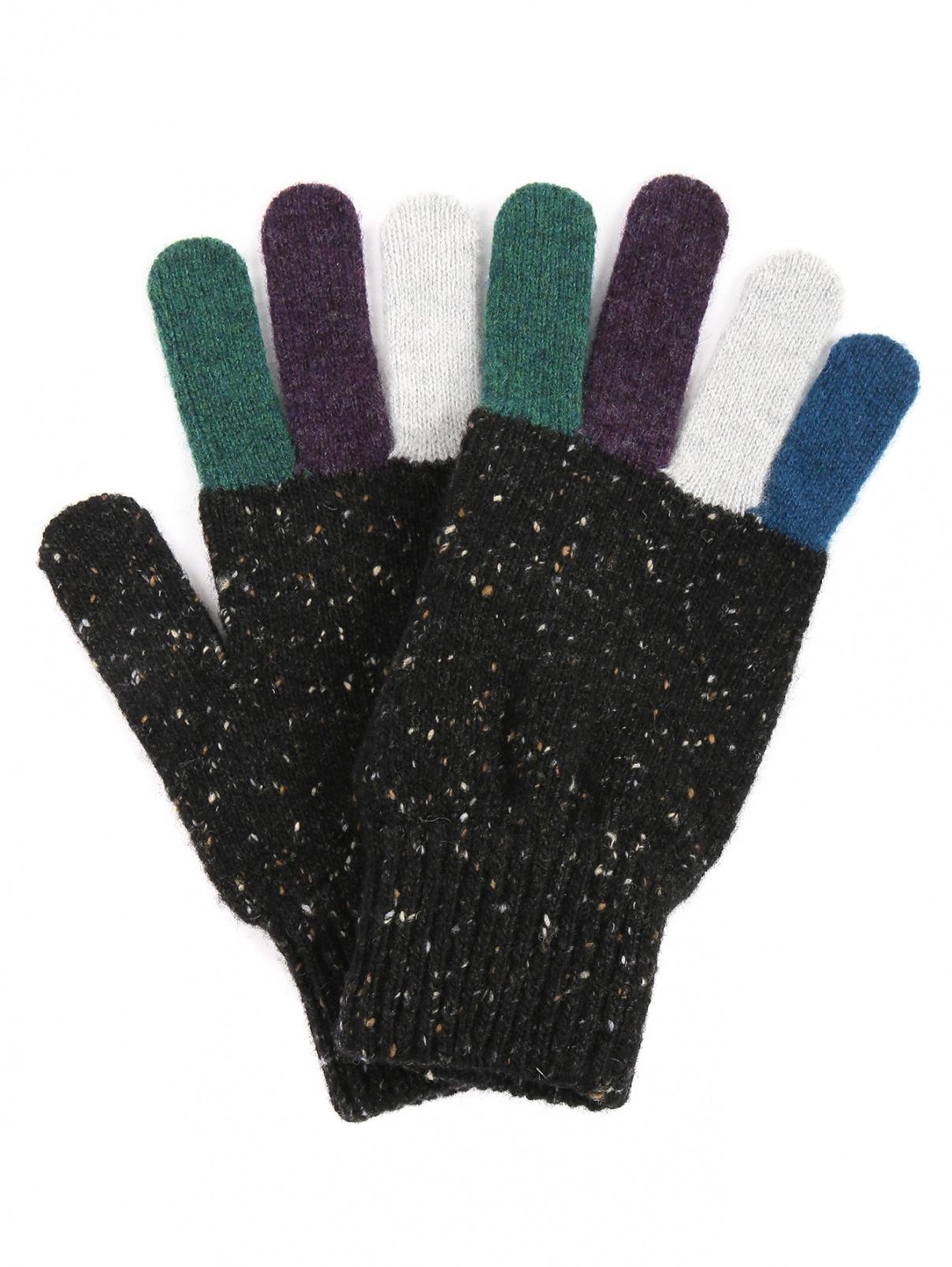Перчатки из шерсти с контрастными вставками Paul Smith  –  Общий вид