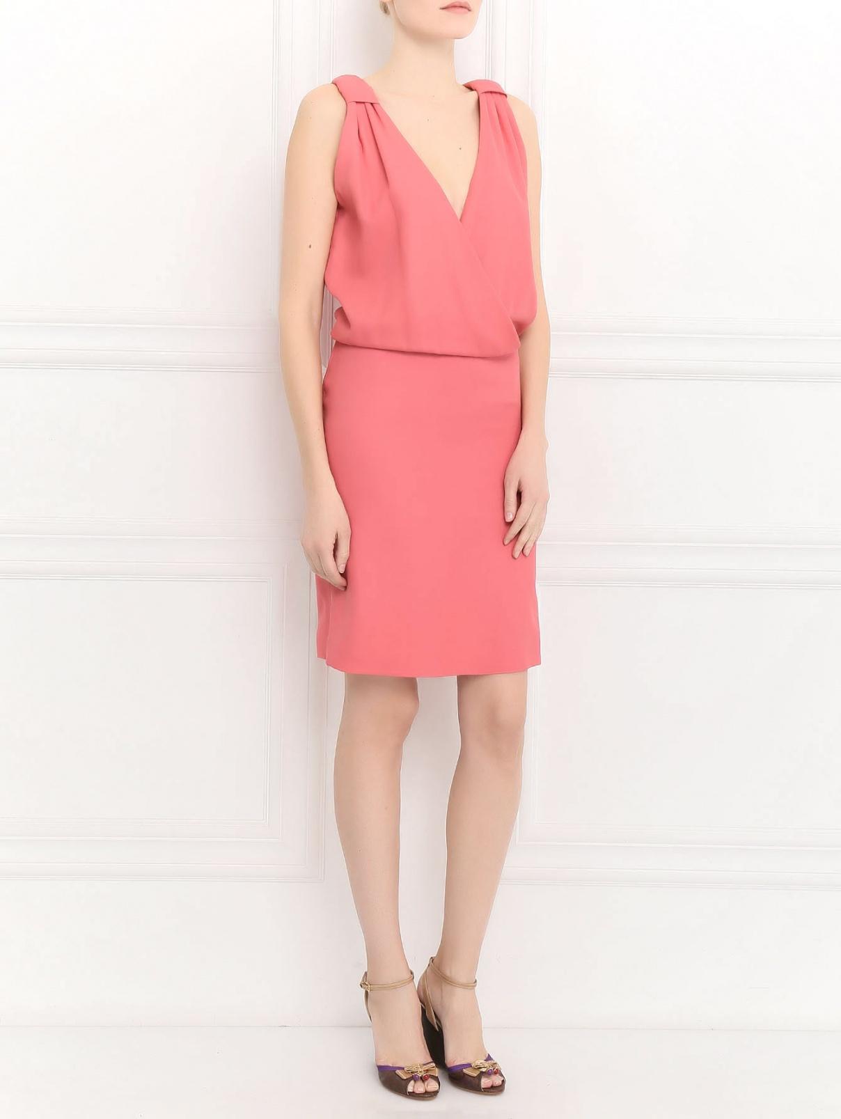 Платье-мини из шелка Alberta Ferretti  –  Модель Общий вид