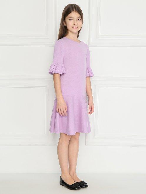 Платье из шерсти с воланом - МодельВерхНиз