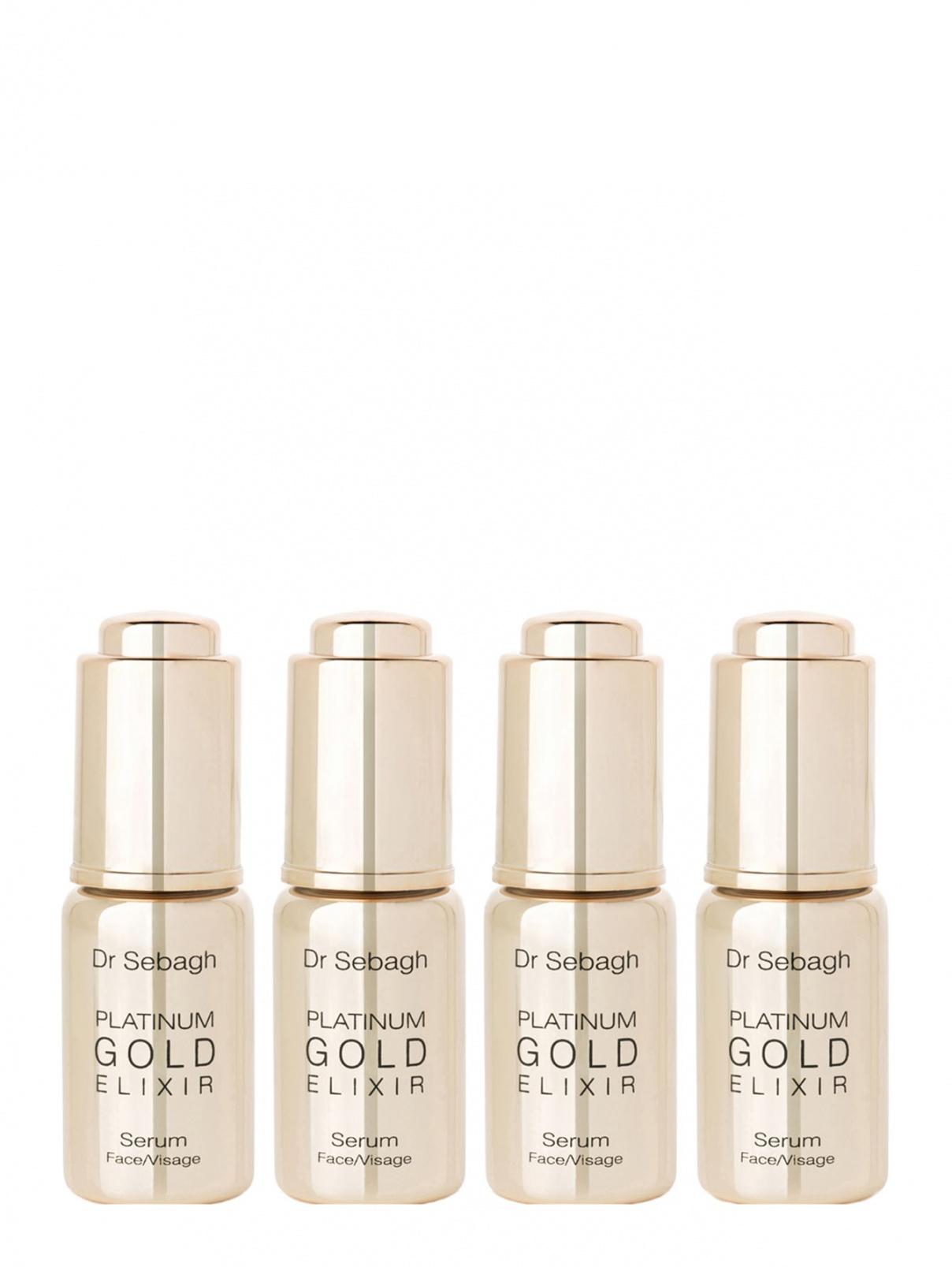 Антивозрастная сыворотка Platinum Gold Elixir 4х10 мл Dr.Sebagh  –  Общий вид