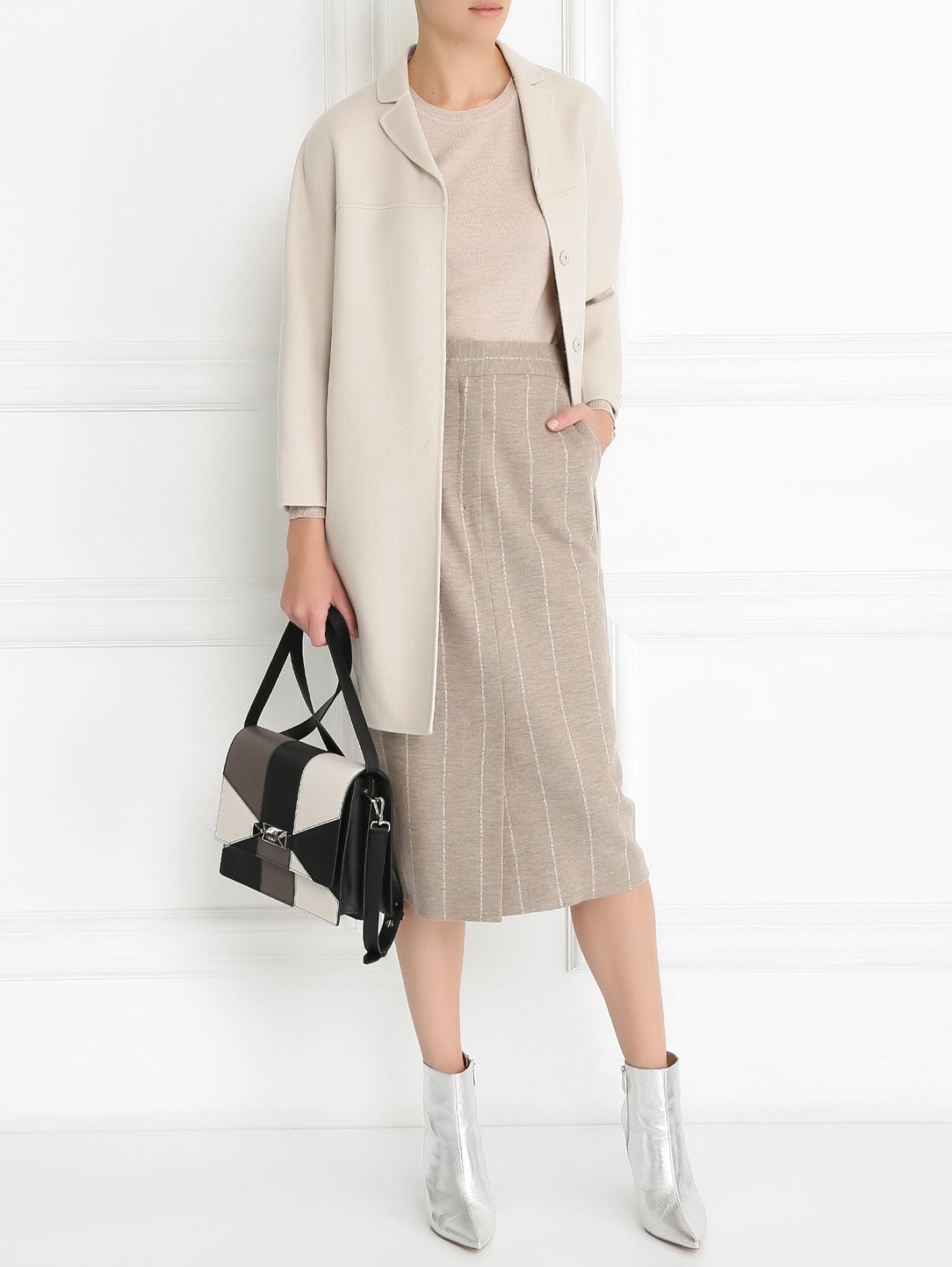 Джемпер из шерсти и шелка с длинным рукавом Weekend Max Mara  –  Модель Общий вид