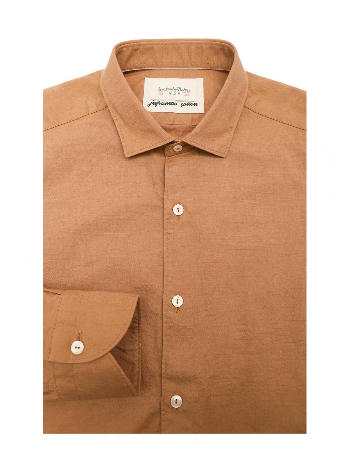 Рубашка из хлопка с контрастными пуговицами Tintoria Mattei  –  Общий вид