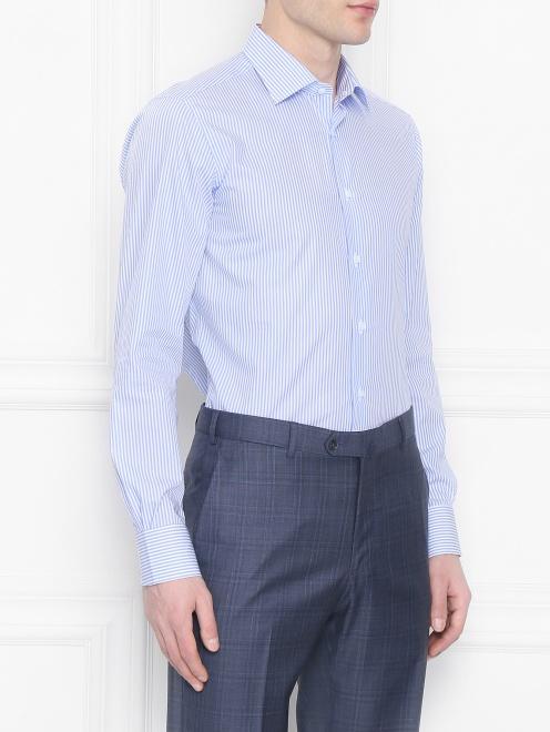 Рубашка из хлопка с узором Carrel - МодельВерхНиз