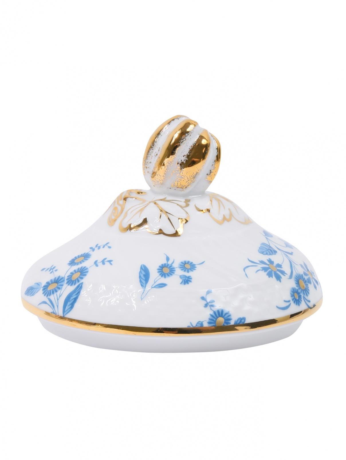 Крышка для чайной чашки из фарфора с узором Richard Ginori 1735  –  Общий вид
