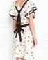 Платье из шелка с узором и контрастной отделкой Dorothee Schumacher  –  Модель Верх-Низ1