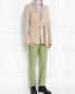 Пиджак трикотажный из шерсти и хлопка LARDINI  –  МодельОбщийВид