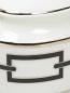 Сахарница из фарфора с орнаментом и серебряной окантовкой Ginori 1735  –  Деталь