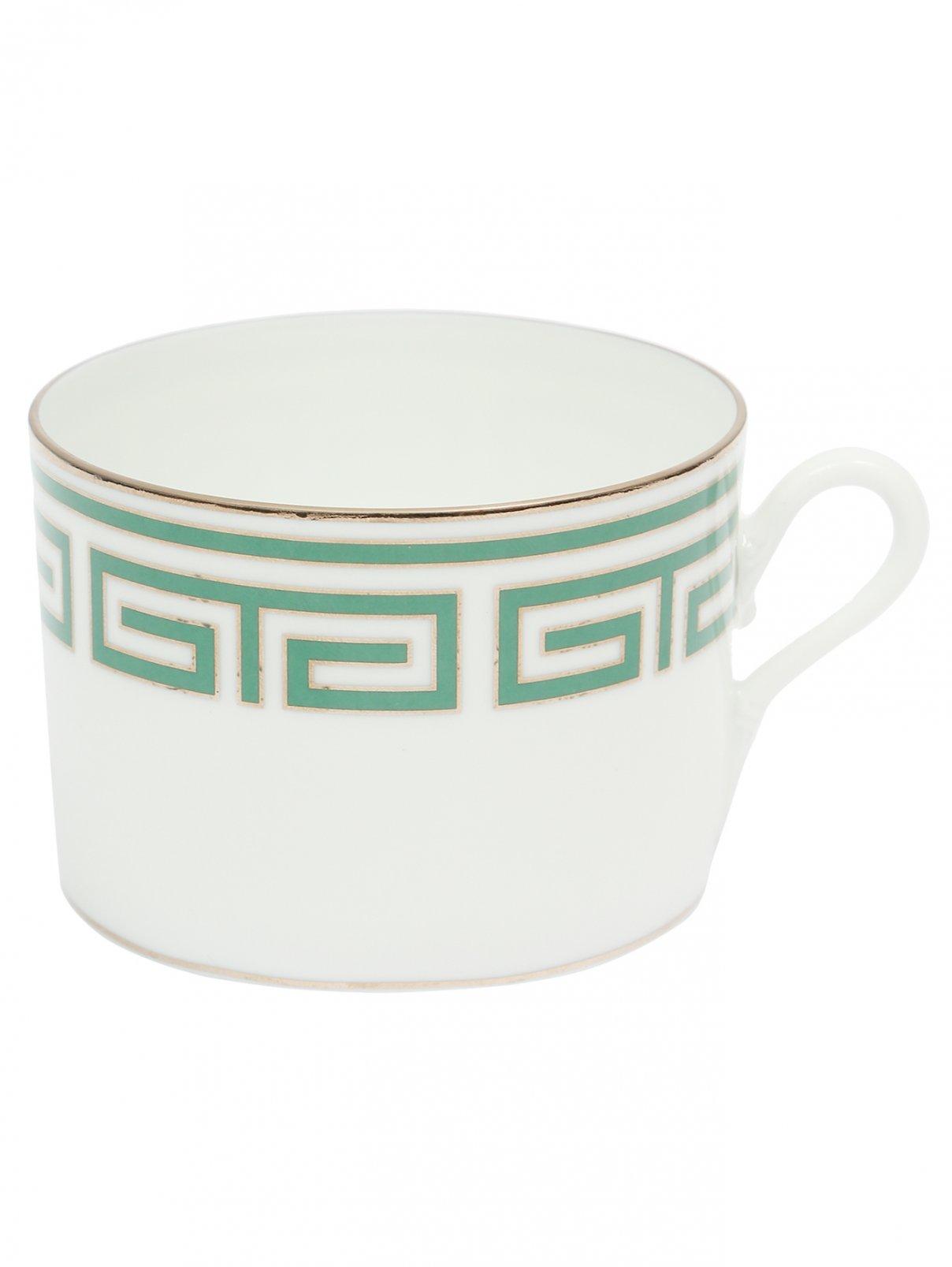 Чайная чашка с орнаментом меандр и серебряной окантовкой Richard Ginori 1735  –  Общий вид