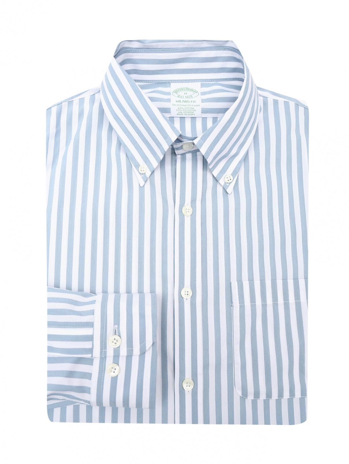 Рубашка хлопковая в полоску Brooks Brothers  –  Общий вид