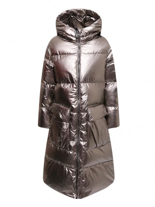 Куртка удлиненная на пуховом подкладе - Общий вид