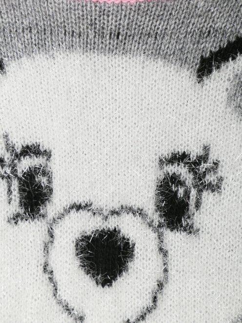 Трикотажное платье с узором  - Деталь