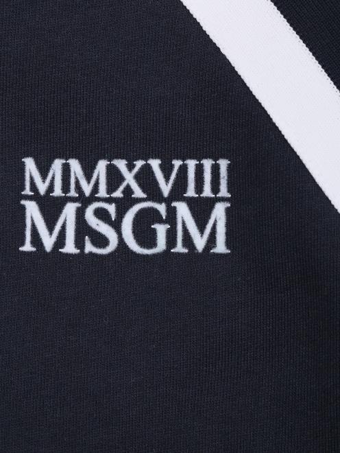 Толстовка хлопковая на молнии MSGM - Деталь1