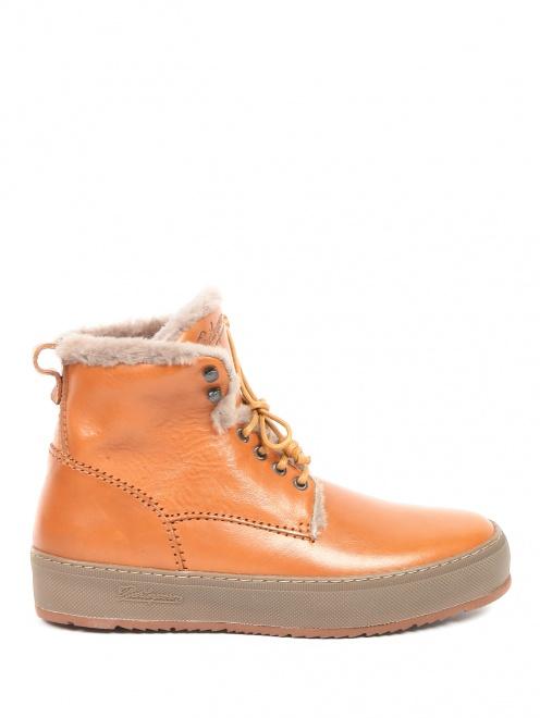 Ботинки из кожи  - Общий вид