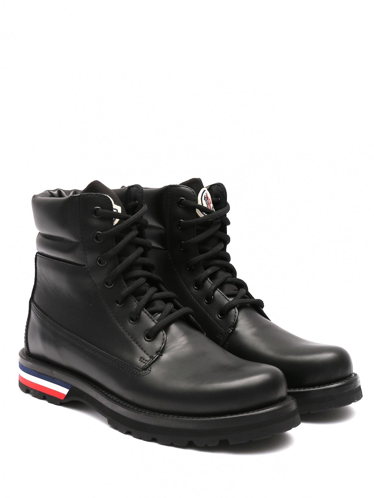 Ботинки из гладкой кожи на шнурках Moncler  –  Общий вид
