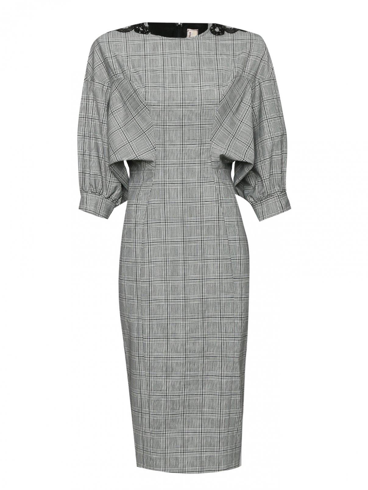 Платье из смешанной шерсти с узором и декоративной отделкой Antonio Marras  –  Общий вид