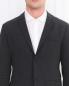 Однобортный пиджак из шерсти и шелка Emporio Armani  –  Модель Общий вид1