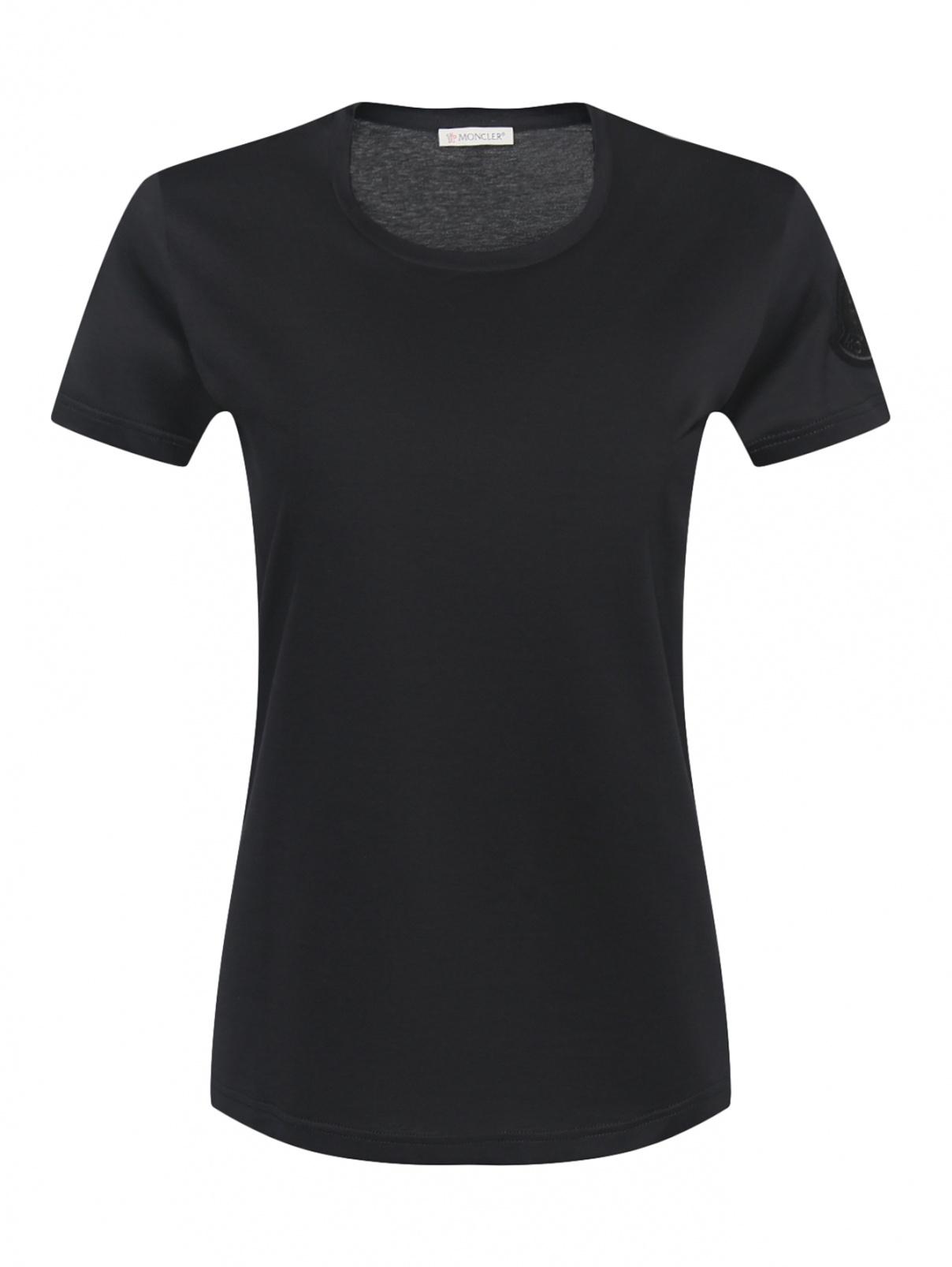 Базовая футболка из хлопка с короткими рукавами Moncler  –  Общий вид