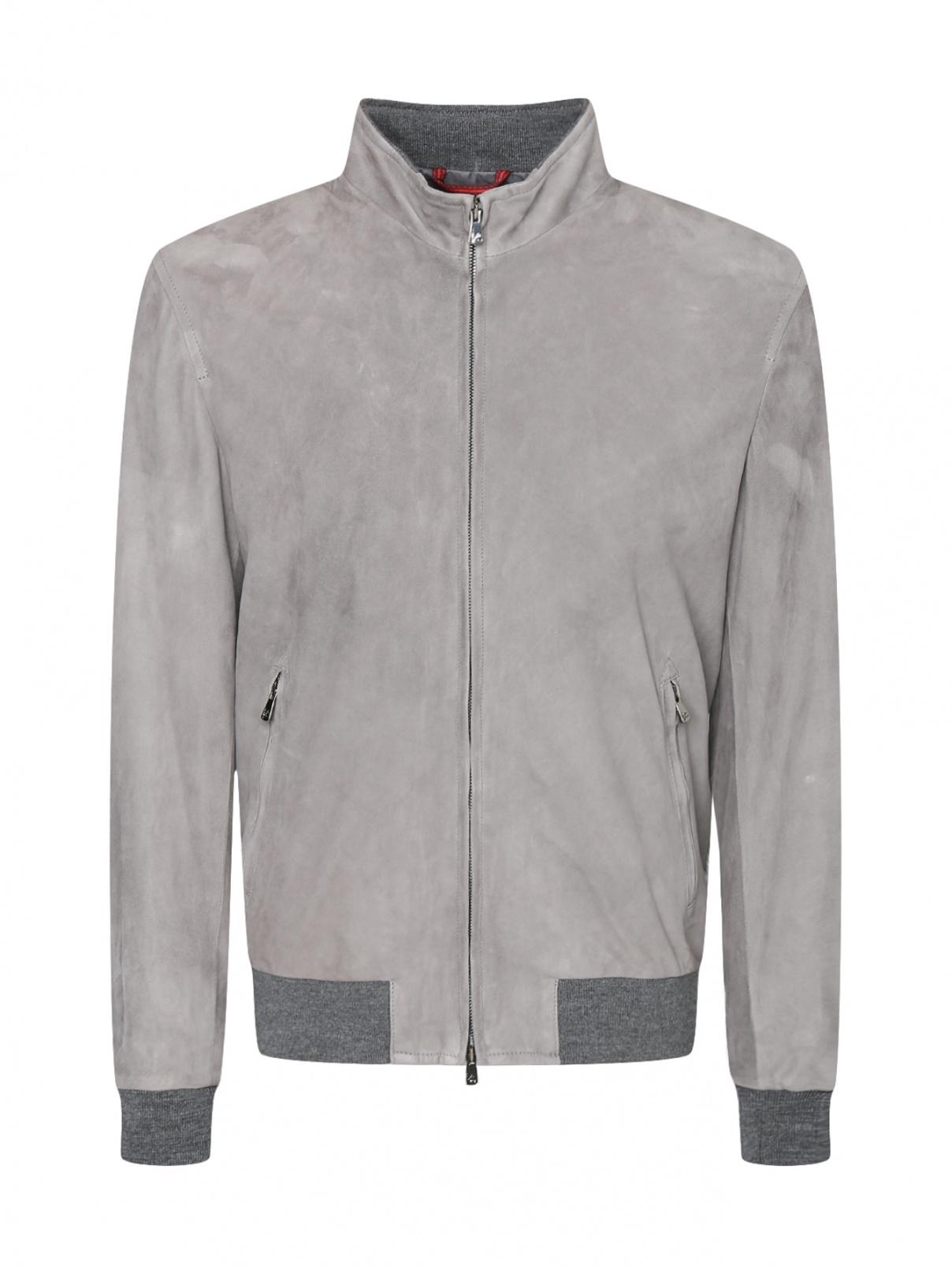 Куртка из замшевой ткани Isaia  –  Общий вид