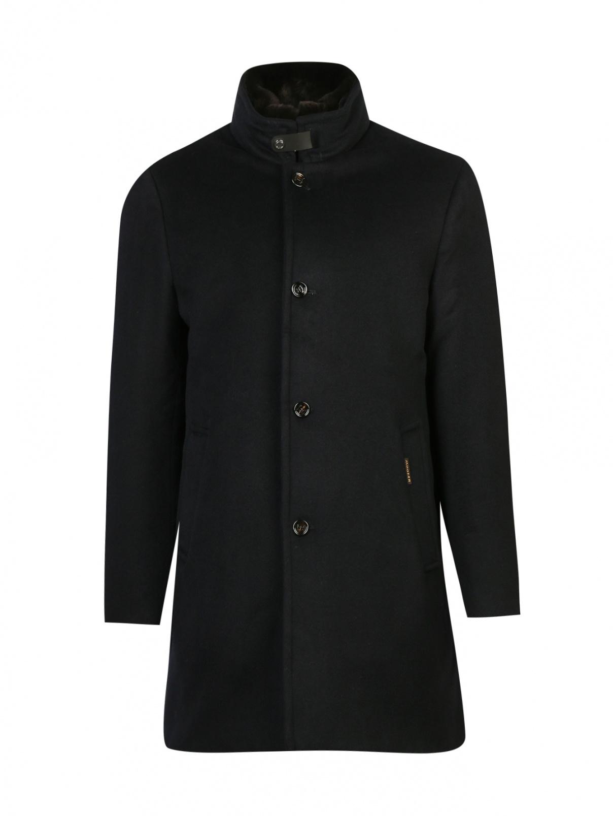 Пальто пуховое из шерсти Moorer  –  Общий вид