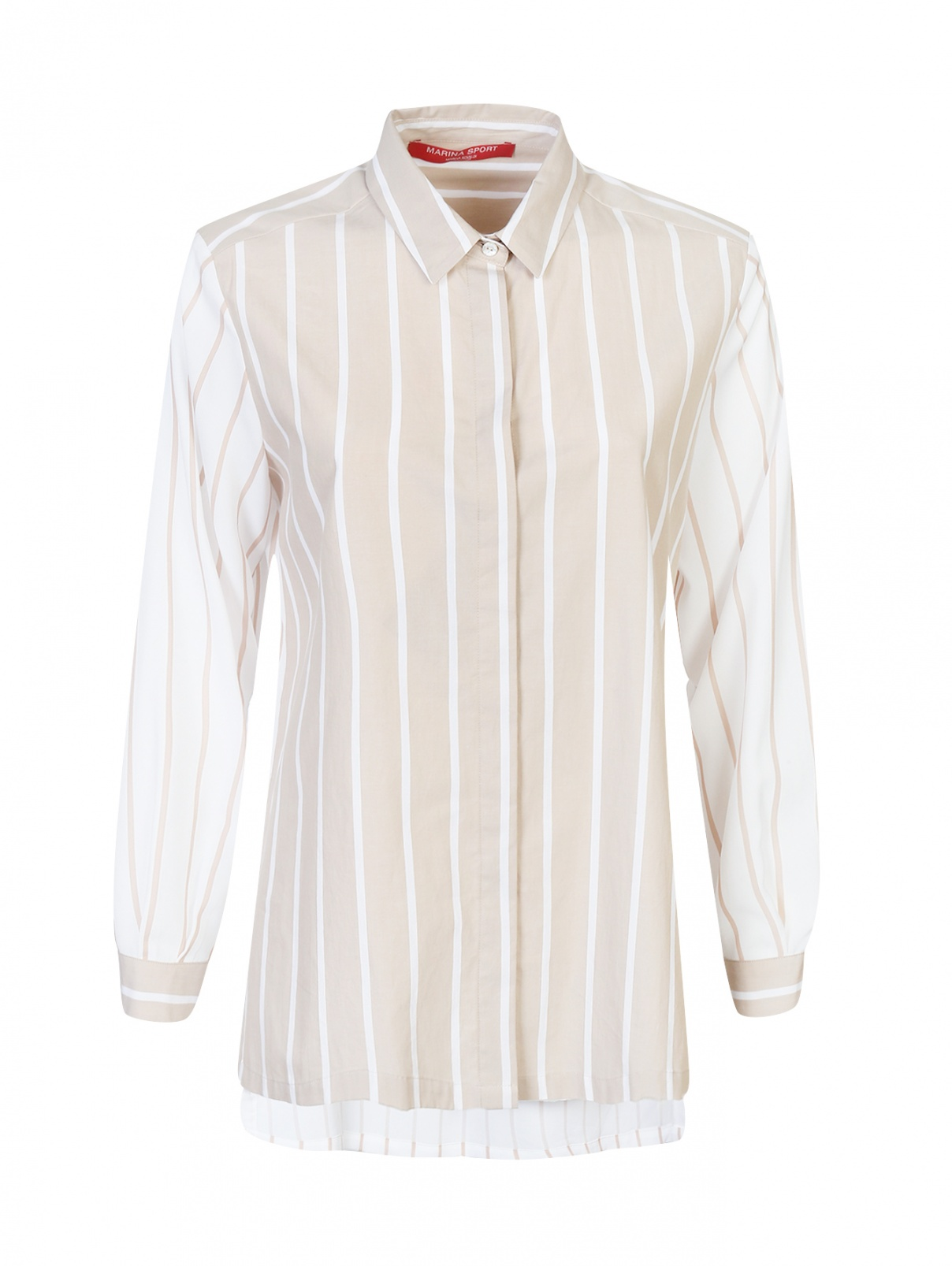 Блуза из хлопка в полоску Marina Rinaldi  –  Общий вид