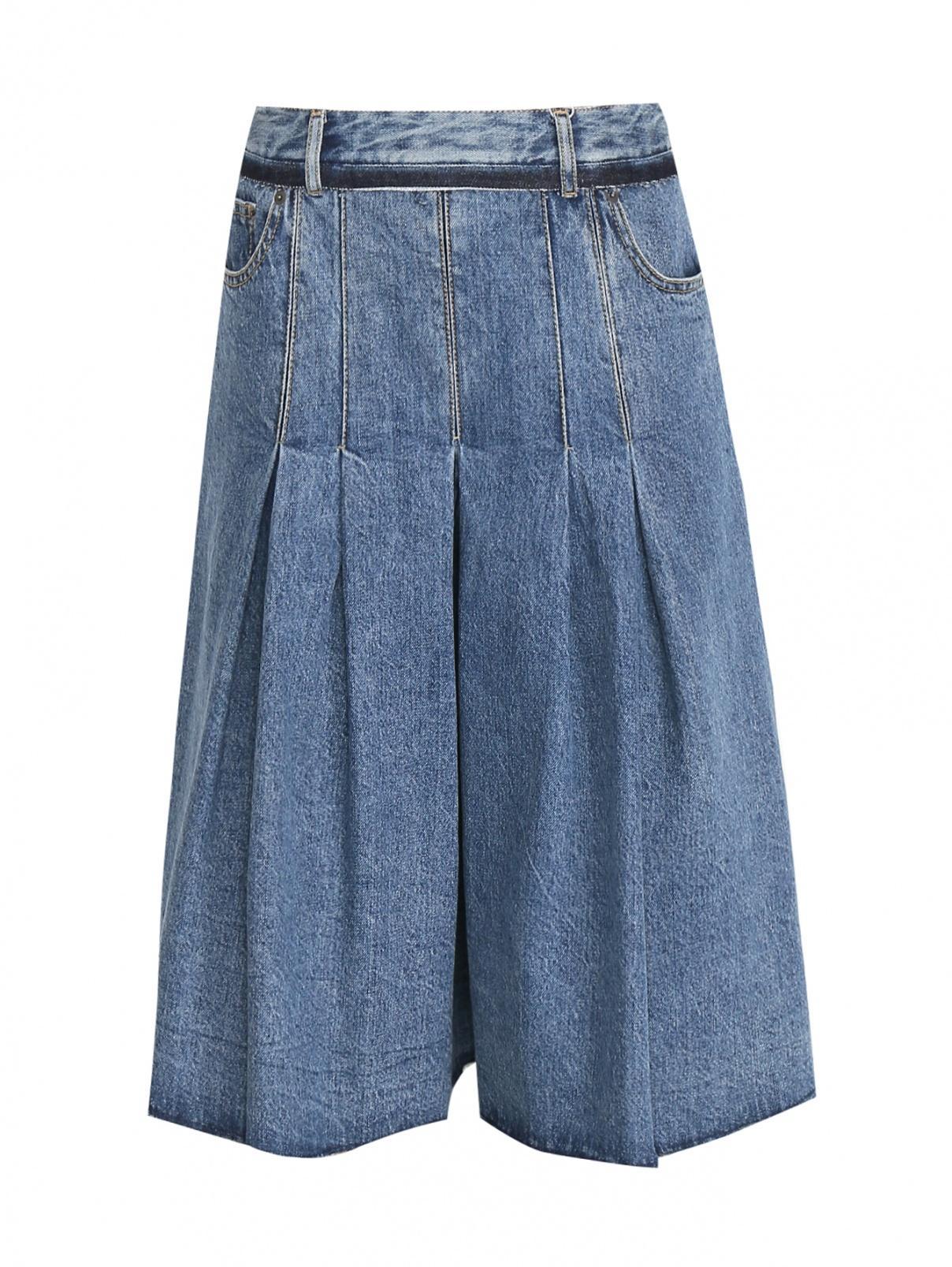Джинсовые шорты из хлопка свободного кроя Maison Martin Margiela  –  Общий вид