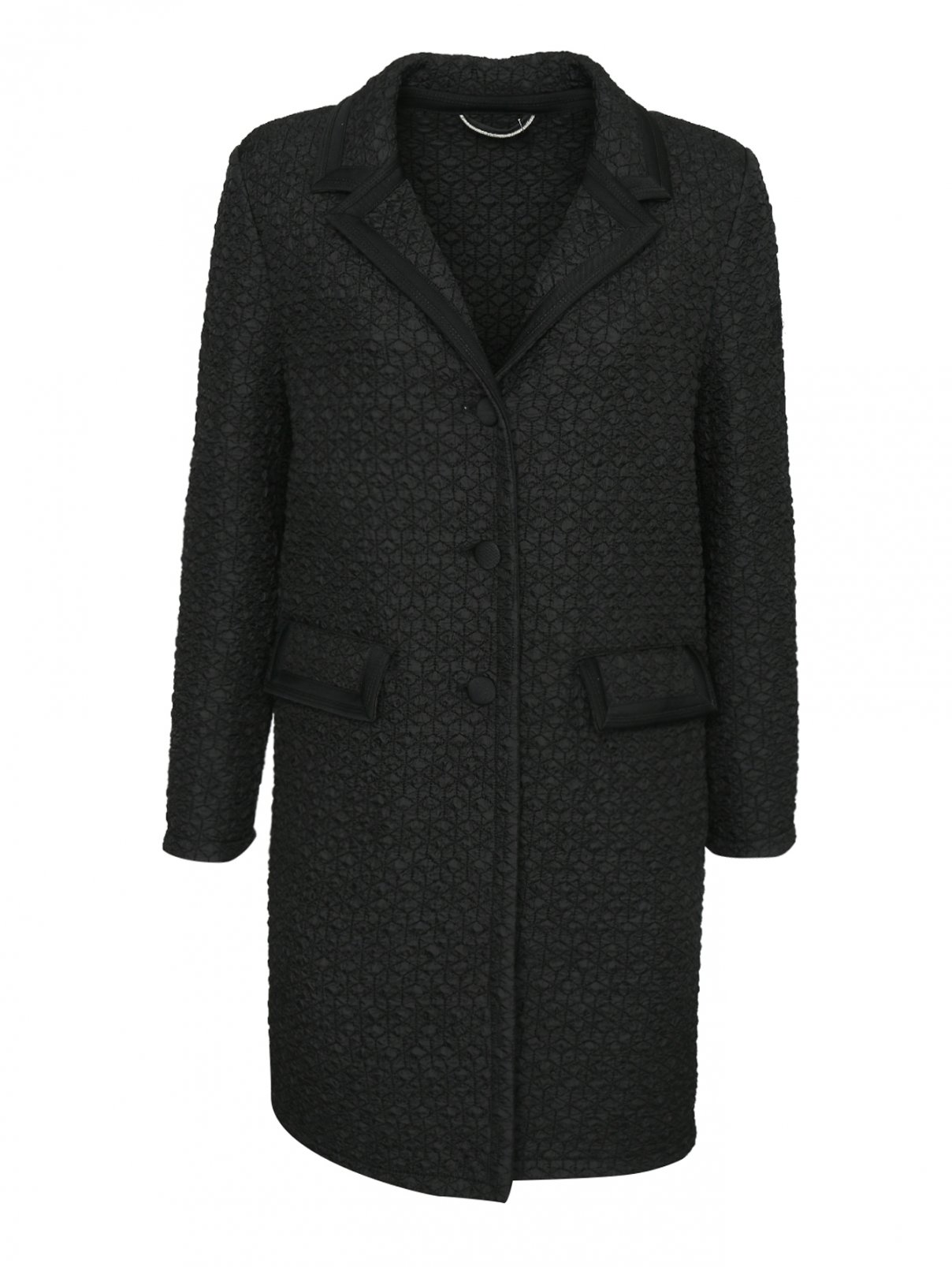 Пальто стеганое на пуговицах Ermanno Scervino  –  Общий вид
