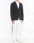 Однобортный пиджак из шерсти и шелка Emporio Armani  –  Модель Общий вид