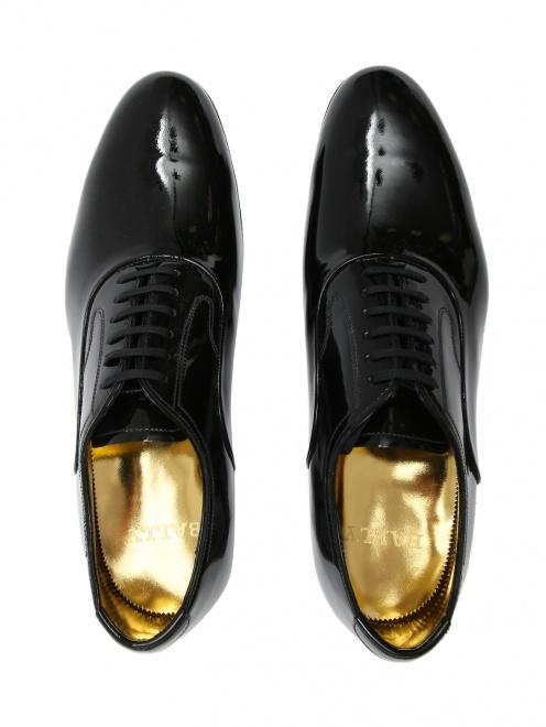 Туфли из лаковой кожи на шнурках - Обтравка4