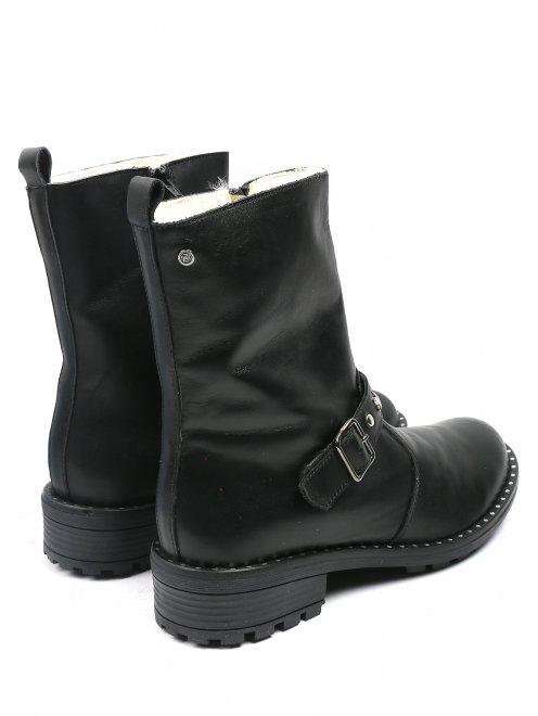 Ботинки из кожи на молнии - Обтравка2