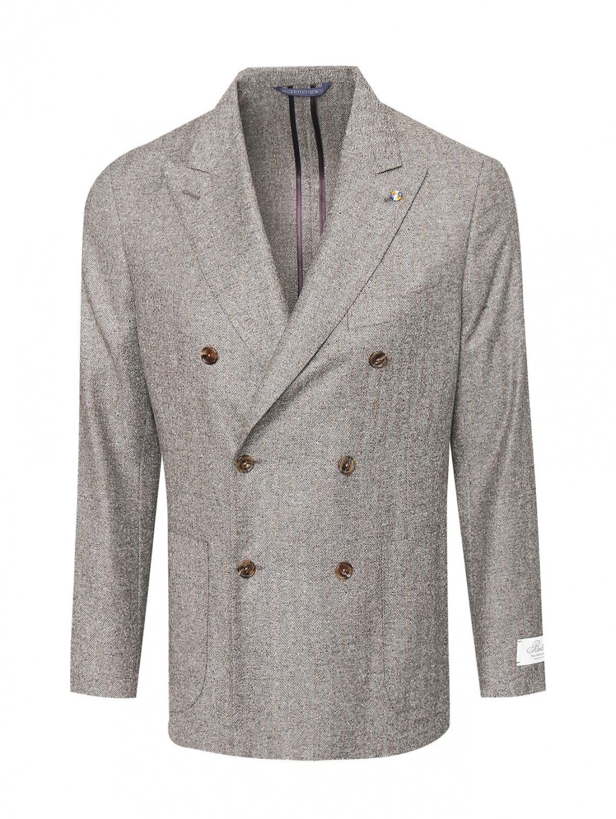 Двубортный пиджак из шерсти и шелка Belvest  –  Общий вид