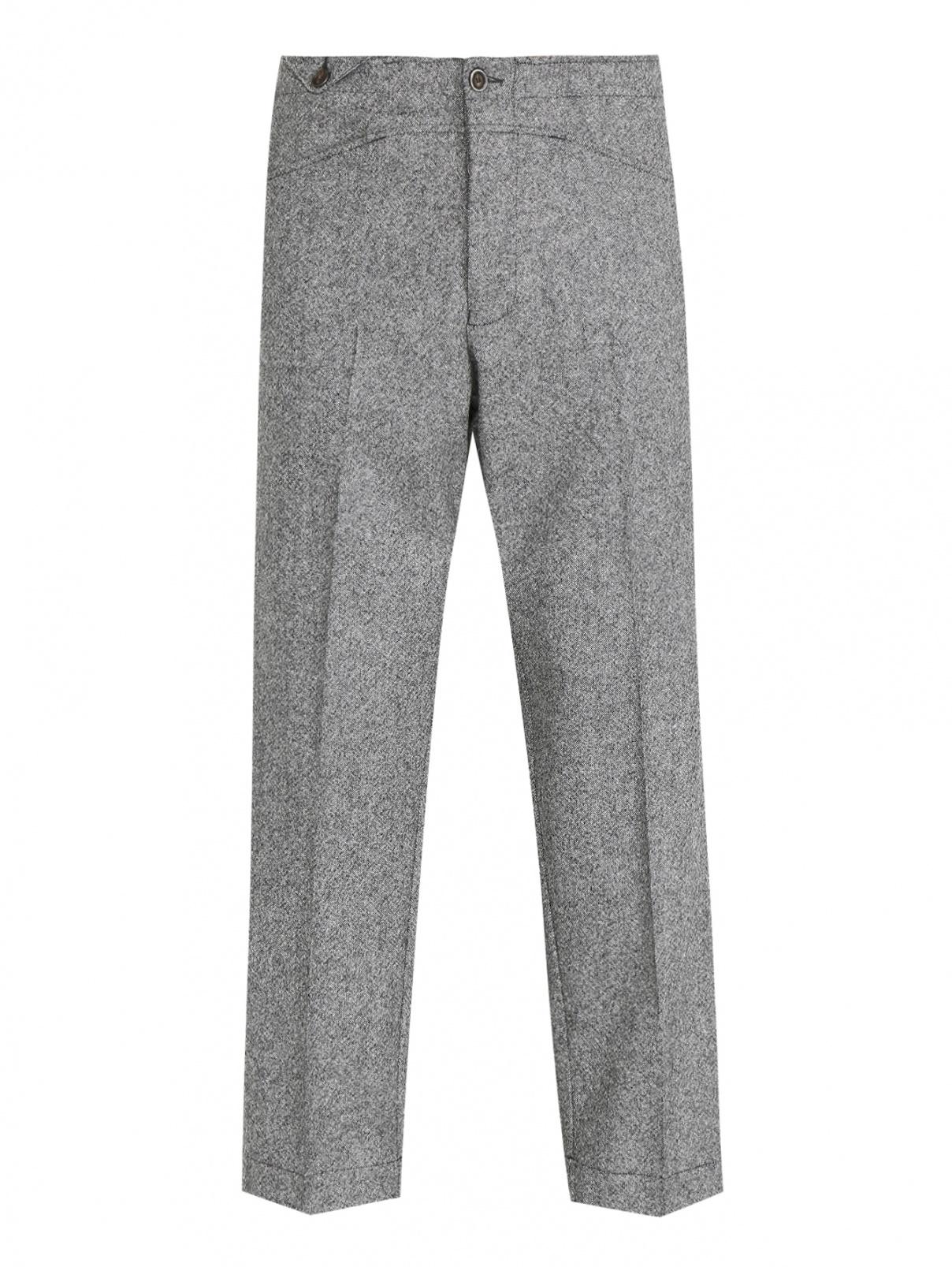 Брюки из шерсти прямого кроя с карманами LARDINI  –  Общий вид