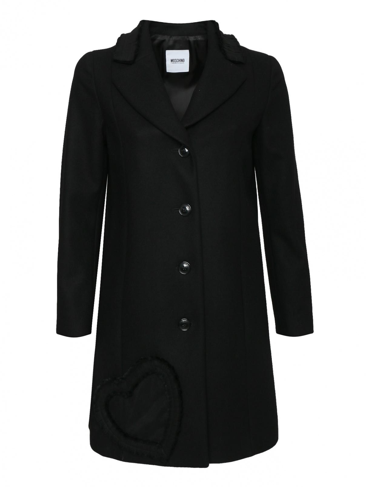 Пальто из шерсти на пуговицах Moschino  –  Общий вид