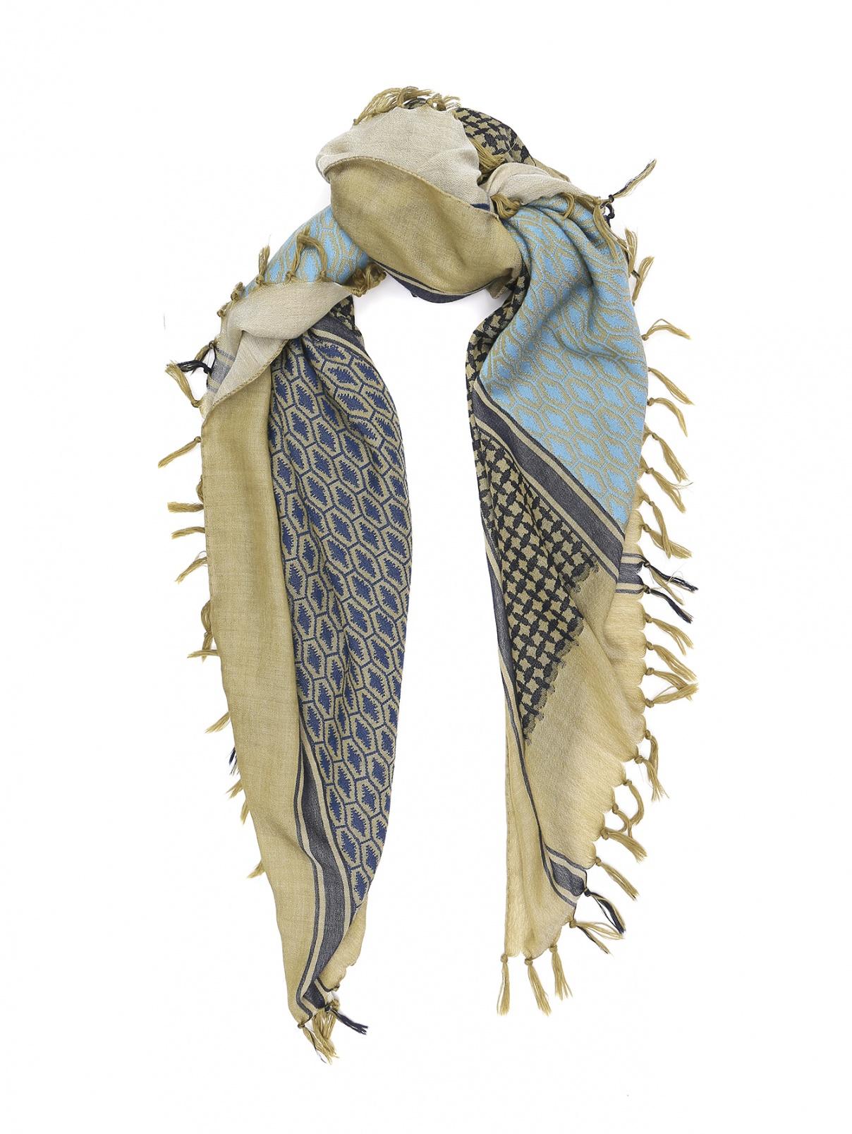 Шарф из шерсти с узором Etro  –  Общий вид