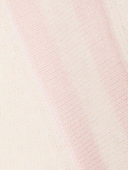 Джемпер из шерсти и кашемира с полосками - Деталь