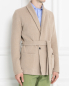 Пиджак трикотажный из шерсти и хлопка LARDINI  –  МодельВерхНиз
