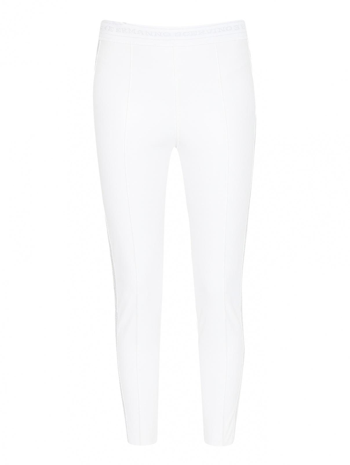 Легинсы из искусственной кожи с контрастной отделкой Ermanno Scervino  –  Общий вид