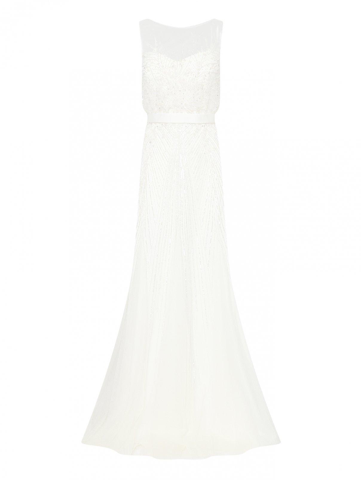 Платье макси из сетки с вышивкой из бисера Rosa Clara  –  Общий вид