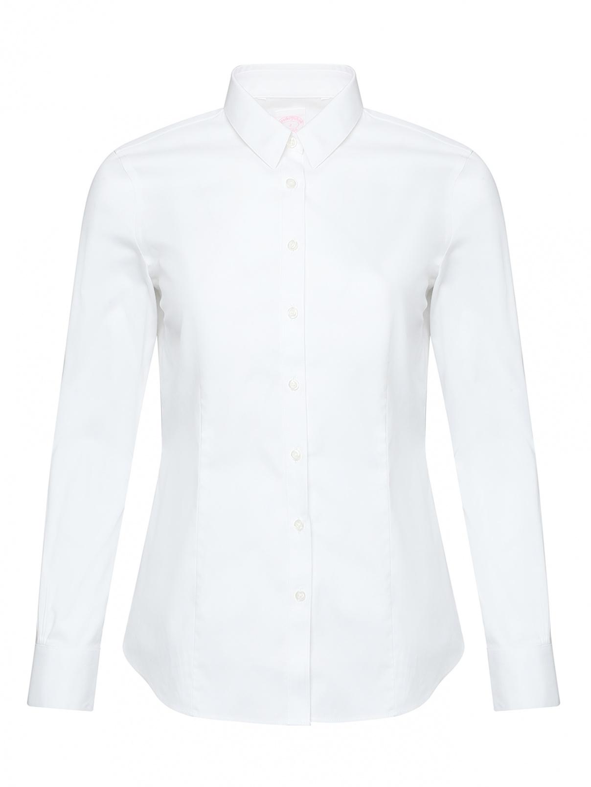 Рубашка из хлопка приталенного кроя Brooks Brothers  –  Общий вид